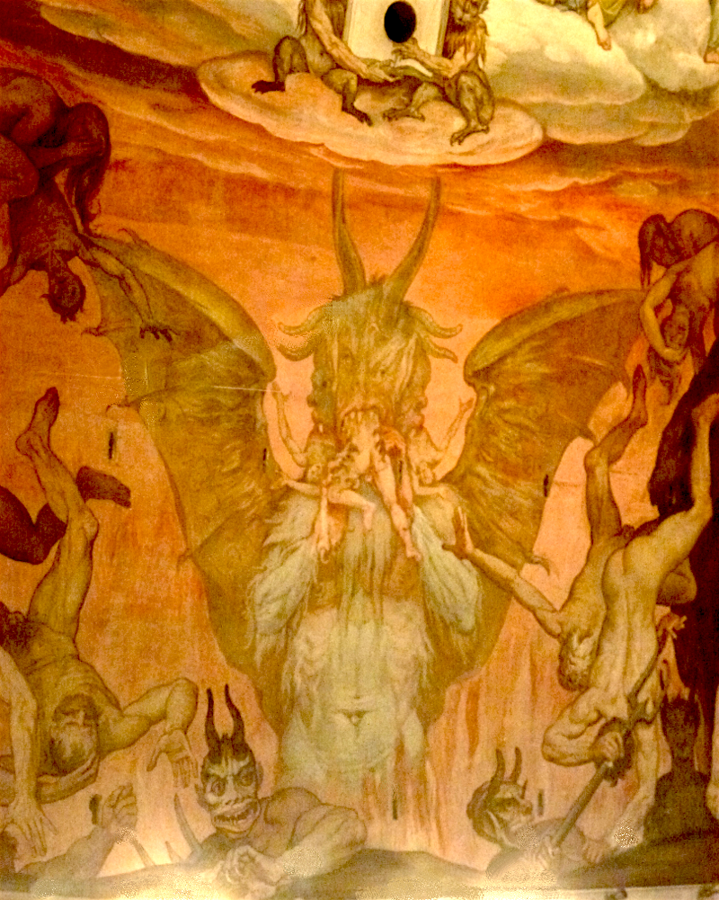 Lucifer, fresque de la coupole de la cathédrale de Florence; photo JP Schmit