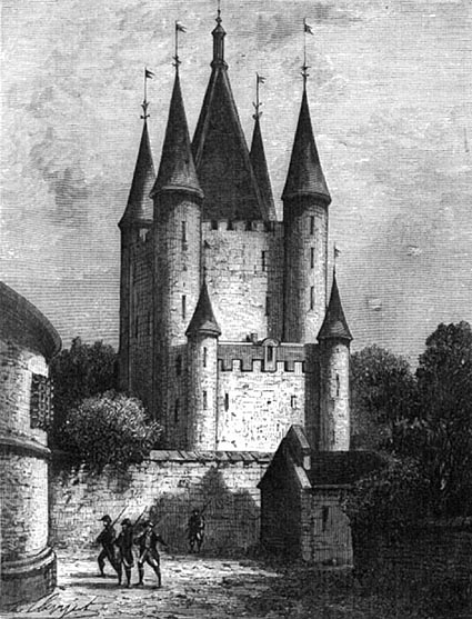 The Temple's Tower where the King Louis XVI was imprisonned on August 13th, 1792; image found on  http://www.et-in-arcadia-ego.info/