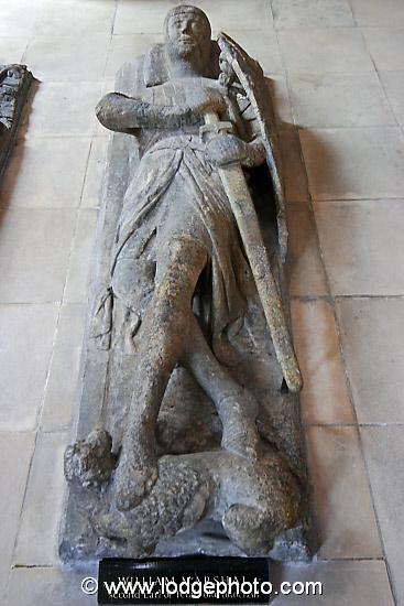 Temple Church, Templar recumbent statue; photograph by Mathew Lodge