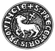 Agnus Dei, seal used by Roncelin de Fos, «Magister domorum milicie Templi in Provincia»; département des Archives de Marseille, Bouches-du-Rhône