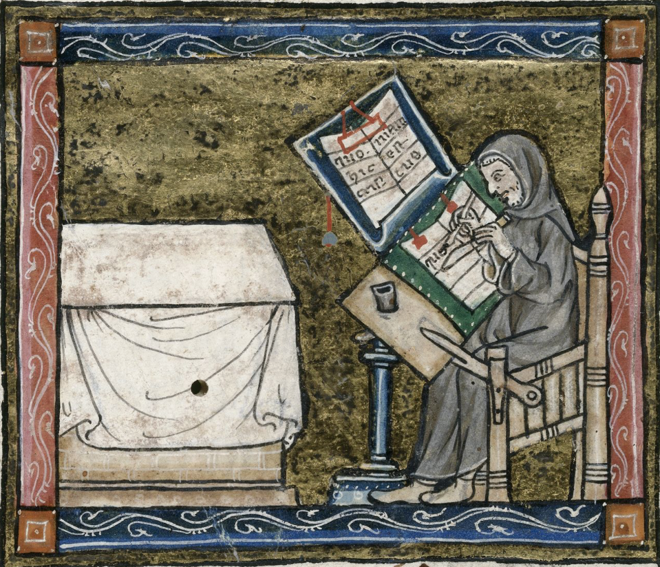 F6v; l'Estoire del Saint Graal, la queste del Saint Graal, Morte Artu (British Library, Royal 14E III)