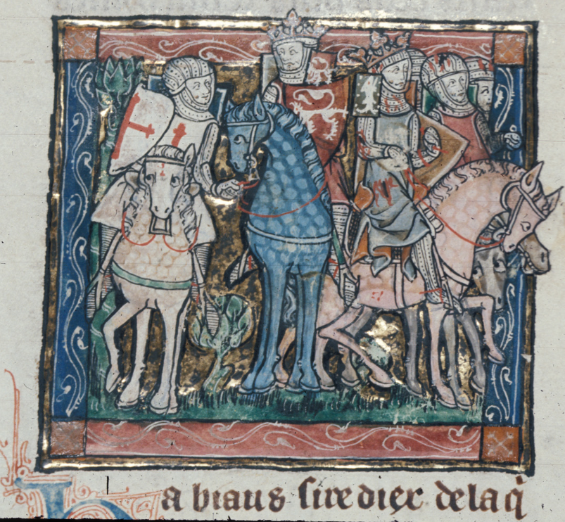 F24v; l'Estoire del Saint Graal, la queste del Saint Graal, Morte Artu (British Library, Royal 14E III)