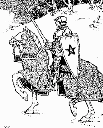 Chevalier Gauvain et son pentangle